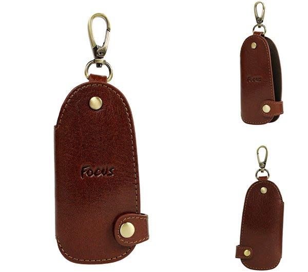 【DREAM包包館】FOCUS 富可仕 質感原皮 真皮 鑰匙包 FTA0283 咖啡