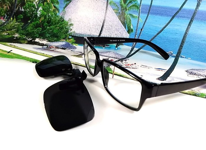天王星精品 偏光太陽眼鏡夾片 中型方款 38MM 掛式太陽眼鏡 輕巧 偏光夾片/ 夾式太陽眼鏡 今夏必備 開車 休閒必備