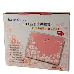 請勿下標 (全新,500) House Keeper LED迷你體重計 (粉)