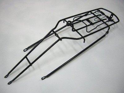 《意生》後貨架-26吋雙避震車專用後貨架 / 26吋避震車用-避震鐵支加粗 彈簧夾後貨架
