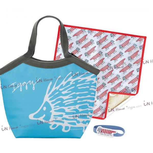 IN House*日雜附錄 亞麻自然風藍色 保溫包 托特包 餐墊 束帶 保冷袋 便當袋 擠奶袋