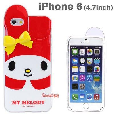 《東京家族》特價正版melody美樂蒂 紅底黃色立體蝴蝶結 iphone 6/6S軟殼保護殼手機殼
