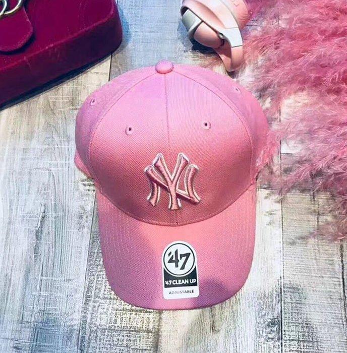 MLB 粉色棒球帽 紐約洋基隊 47 Brand 現貨!!