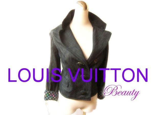 *Beauty*LOUIS VUITTON 路易威登LV灰黑牛仔外套 WE12