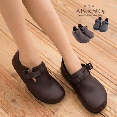 格子舖*【KW7328】MIT台灣製 高質感高品質真皮基本款皮革女款全包半包鞋 懶人鞋 2色