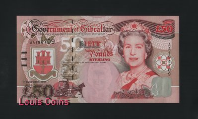 【Louis Coins】B156-GIBRALTAR-2006直布羅陀紙幣,50 Pounds Sterling