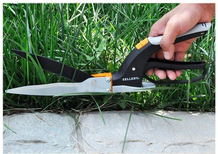 史拉力 草坪剪刀,360度旋轉刀頭,手動修剪草坪,家用園藝剪,送手套,含稅(台灣製造)