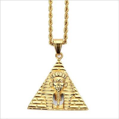 【Result】Pyramid Pharaoh Pendant Necklace 埃及金字塔法老 Hiphop 頑童
