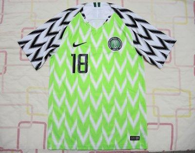 近全新正品 NIKE 2018 奈及利亞 主場 球衣 世界盃 世足賽 法國 比利時 克羅埃西亞 英格蘭