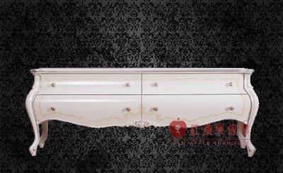 [紅蘋果傢俱] G313K 宮廷凡爾賽系列 頂級進口 歐式 皇室 電視櫃 法式TV櫃 新古典 地櫃