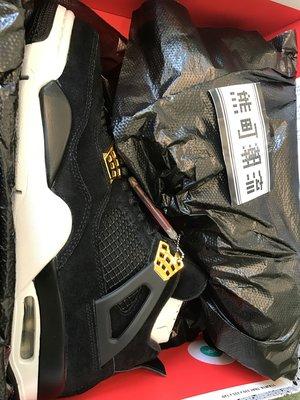 全新正品 NIKE AIR JORDAN 4 Royalty AJ4 黑金 籃球鞋 308497-032