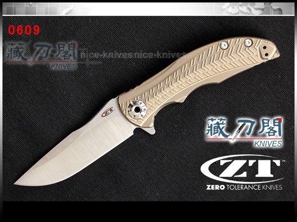 《藏刀閣》ZERO TOLERANCE-(0609)緊湊型Flipper鈦柄折刀