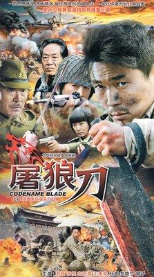 抗日戰爭電視連續劇 屠狼刀碟片 DVD光盤海頓張恒趙恒煊