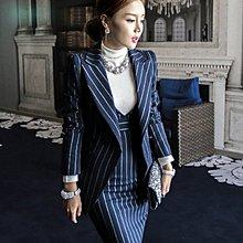 外套洋裝 西裝外套+背心連身裙套裝 艾爾莎【TAK6214】