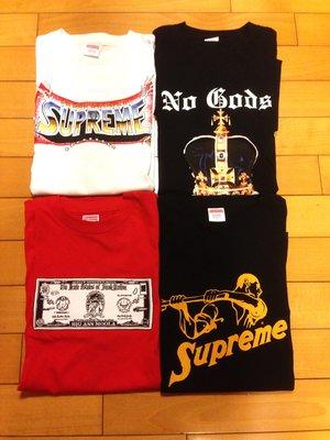 Supreme T-shirt supreme 字體 皇冠 美金鈔票 棒槌 情色tee Doggs