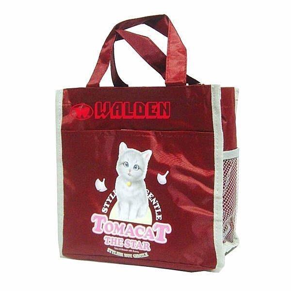 《葳爾登》Tomacat蕃茄貓便當袋手提袋/補習袋/文具袋可平送便當購物袋蕃茄貓才藝袋1043紅