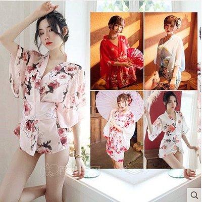 【和服】霏慕情趣內衣雪紡情趣睡衣日系和服性感透視小胸制服誘惑激情套裝