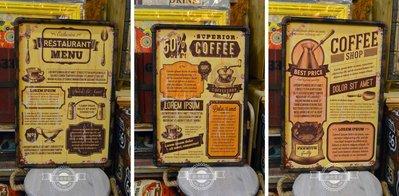 美式鄉村工業風水管壁畫 咖啡餐廳 復古仿舊 共3款 咖啡豆研磨機叉子湯匙  掛畫裝飾品居家擺設佈置電箱【【歐舍傢飾】】