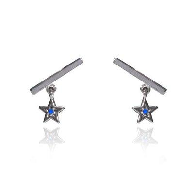 【韓Lin連線代購】韓國 GET ME BLIN- 明星同款抗敏925銀星星耳環 LIKE A STAR