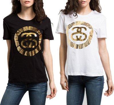 【 超搶手 】全新正品 女裝 STUSSY SACHI EXPOSED TEE 短袖 燙金 黑白 XS S M