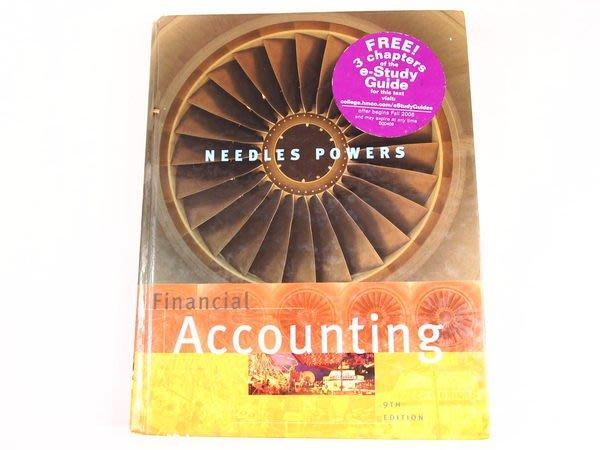 【考試院二手書】《Financial Accounting(九版)》│Baker & Taylor Books│Needles│八成新(22Z21)