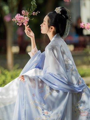 倚夢漢服女傳統重工刺繡廣袖披風外套搭配襦裙大袖衫單件 禧禧#平價時尚