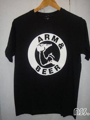 特價「NSS』NUMBER (N)INE NINE N9 ARM&BEER 啤酒 黑T 2 M