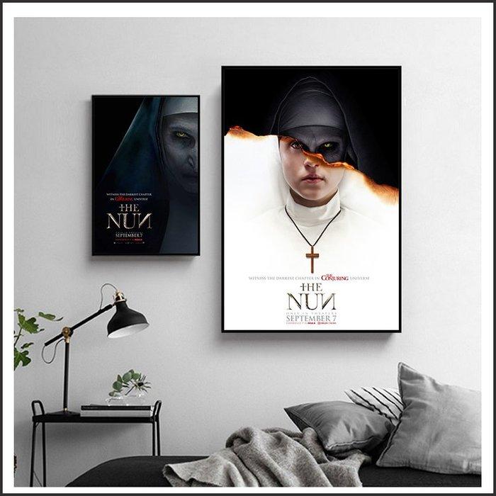 日本製畫布 電影海報 鬼修女 The Nun 掛畫 嵌框畫 @Movie PoP 賣場多款海報#