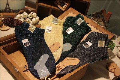 秋冬日系襪子 女薄款 復古金蔥 短襪 ...