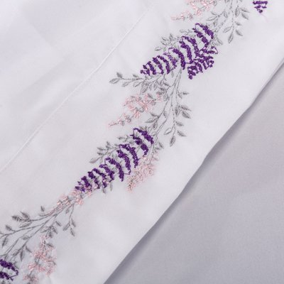 維歐亞馬遜ebay歐美跨境四件套素色繡花四件套 bed sheet set