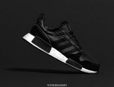 2019 4月 Adidas Rising Star x R1 EE3655 愛迪達 黑白色 皮革 BOOST 休閒慢跑鞋