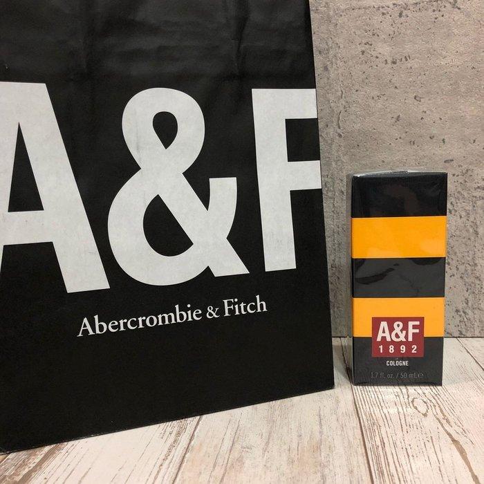 Maple麋鹿小舖 Abercrombie&Fitch * A&F1892 COLOGNE 男生古龍水-黃色50ml
