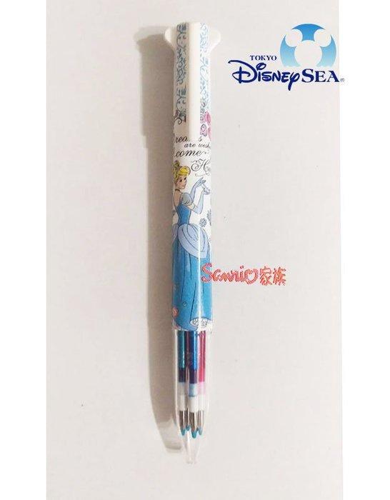 《東京家族》東京迪士尼限定 Disney灰姑娘 STYLE FIT 0.38mm五色原子筆 (紅黑藍綠粉紅)