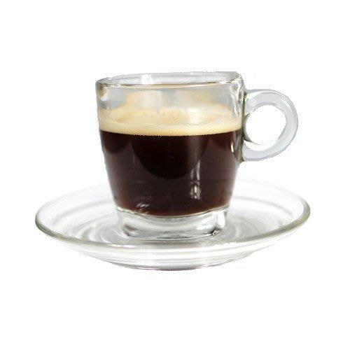 [九折] GLS-04卡布奇諾玻璃杯盤組 200 ml - 方底