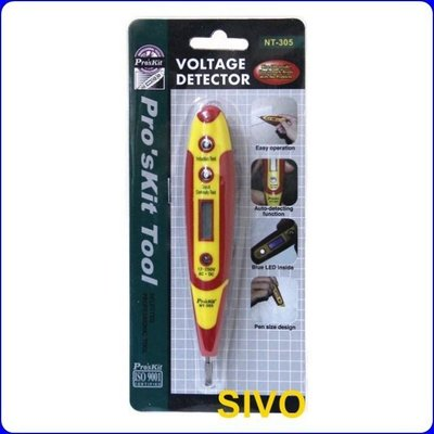 ☆SIVO電子商城☆ 寶工Pro'sKit NT-305 數顯式驗電筆(接觸式)
