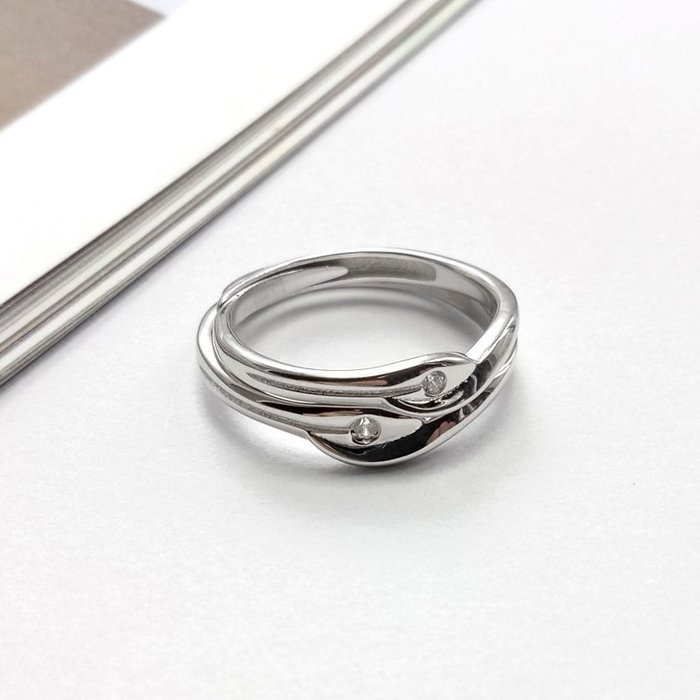 【超值】生生戒指s925純銀簡約一生愛情侶疊口可調節七夕送禮簡約風