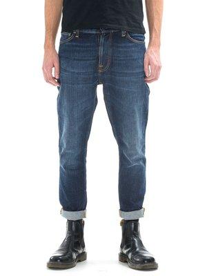 (預購商品) nudie BRUTE KNUT BLUE SWEDE 深藍 刷白 錐形 合身 彈性 排釦 丹寧 牛仔褲