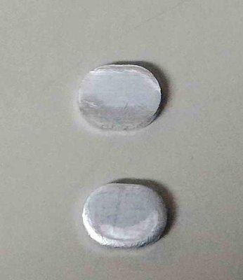 沖壓製造加工 厚度 1.7mm 橢圓鋁片 8.6*6.6mm