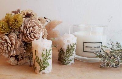 蜂蠟/蜜蠟 貼花蠟燭 一組2入99元,台灣製造
