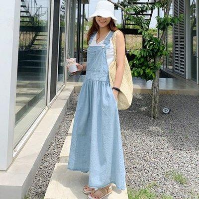 牛仔背心裙  韓系 性感時尚代表吊帶裙 艾爾莎  【TLS00323】