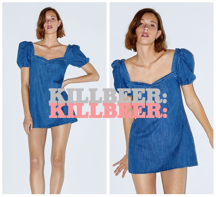 KillBeer:經典就是不會被換之 歐美復古氣質性感甜美方領低胸泡泡袖露背綁帶連身裙洋裝061712