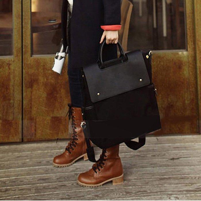 帆布包雙肩包後背包手提單肩三用包多功能背包斜背包學生書包