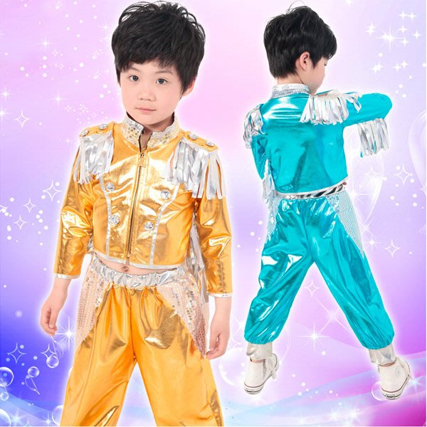 5Cgo【鴿樓】會員有優惠 38651425232 幼兒舞蹈服裝演出服 兒童男童爵士舞表演服裝拉丁街舞套裝 兒童舞衣
