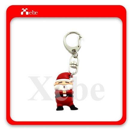 聖誕老公公造型鑰匙圈 - 聖誕交換禮物 手機週邊配件 聖誕禮品 聖誕交換禮物 各式客製化造型禮贈品 鑰匙圈