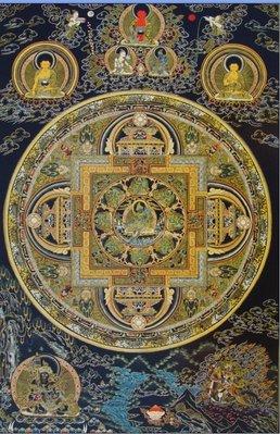 佛教掛畫 開光轉運結緣西藏傳佛教密宗綠度母壇城唐卡圖片佛像掛畫像貼相紙雙面塑封
