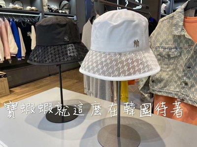 現貨🇹🇼 MLB 100%韓國代購 MLB 洋基帽 棒球帽 漁夫帽 32CPH5011-50W 春夏限定款 NY網狀漁夫帽 正白色