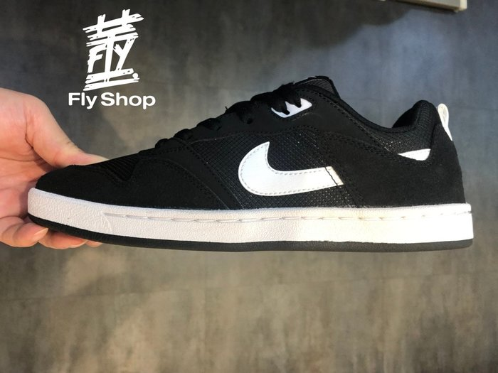 [飛董] NIKE SB ALLEYOOP 麂皮 滑板鞋 休閒鞋 男鞋 CJ0882-100 白 001 黑