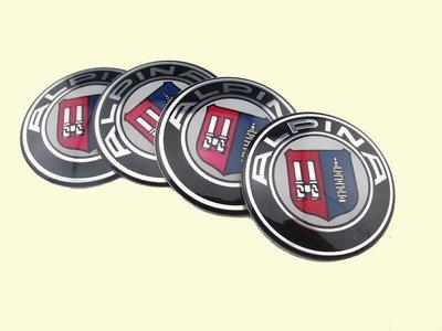 ALPINA BMW 鋁圈中心蓋貼紙 標誌 貼標65MM E28 E30 E34 E36 E38 E39 E46 E53 桃園市