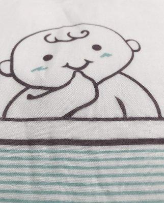 TANGXIN童馨牌嬰兒紗布大浴巾(白底大圖款)可做包巾~涼被~100%純紗棉布製