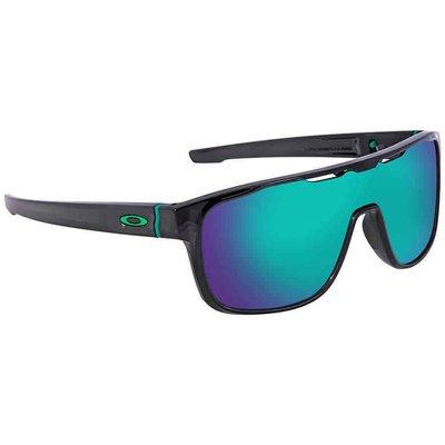 【換日線】OAKLEY OO9387-1231 Crossrange Shield Prizm Jade 矩形男太陽眼鏡
